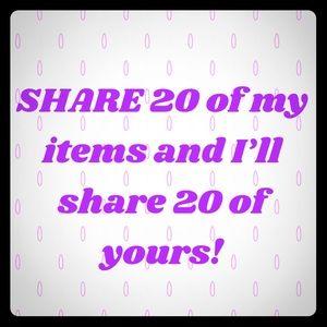 Share, Share, Share!!